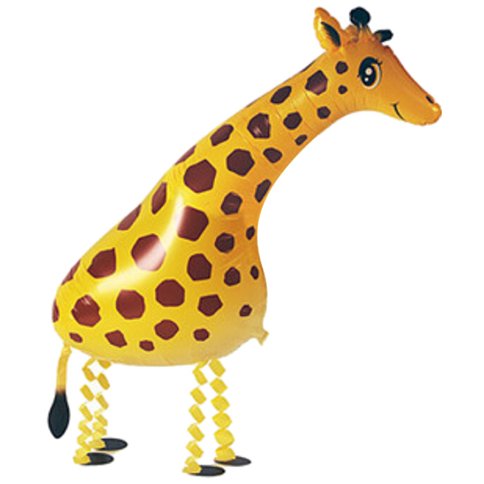 Auto-Seal Walking Giraffe Foil Balloon Reuse Party / Birthday Decor Inflable Gift for Children