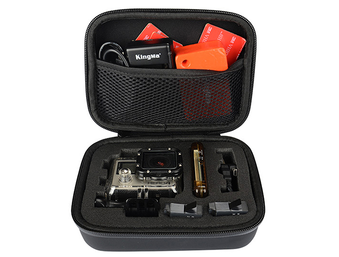 KingMa BMGP208 Medium Waterproof Storage Bag Accessory Box Container for Action Cameras
