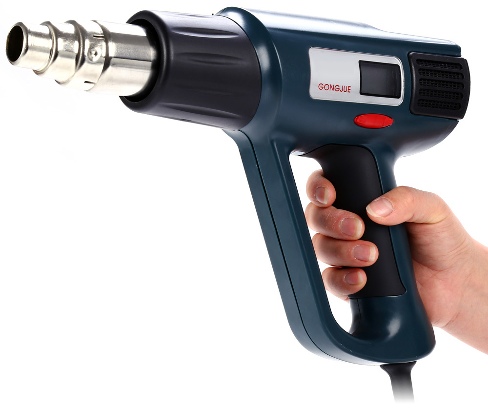 GONGJUE GJ-8020LCD Adjustable Electronic Heat Hot Air Gun 220V 2000W with LCD Screen Display