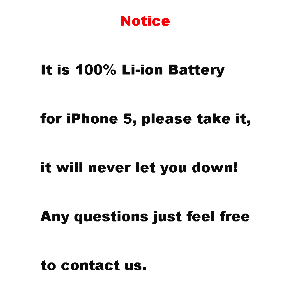 1440mAh Replacement Inner Built-in Li-ion Battery with 8pcs Kit Tools for iPhone 5