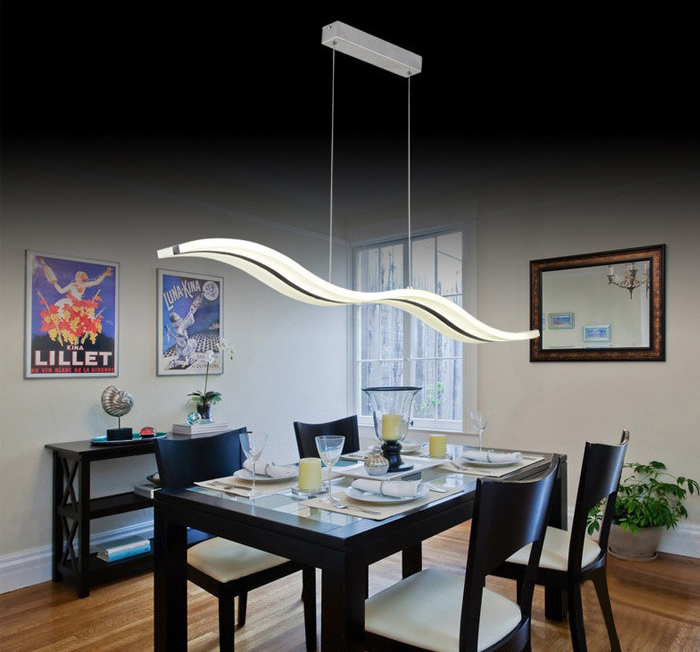 Odemlighting 38W 3000LM Modern Wave LED Pendant Drop Light