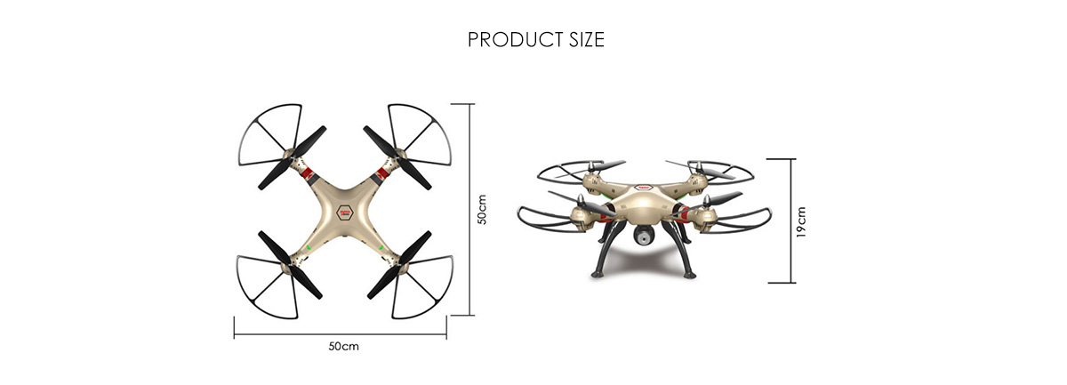 Syma X8HC 2.0MP HD Camera 2.4GHz 4CH 6 Axis Gyro RC Quadcopter Barometer Set Height