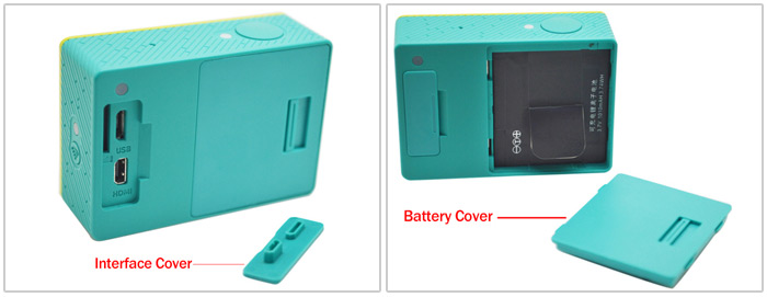Backup Battery / Interface Dustproof Cover Accessory for Xiaomi Yi Action Sports Cameras
