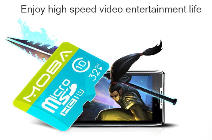 MOBA MO-32 Class 10 32GB Micro SD / TF Card Storage Device