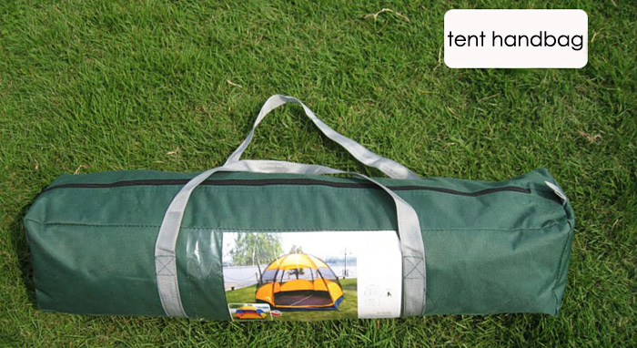 AOTU 8 Person Double-layer Hexagon Camping Tent with Caulking Treatment Water Resistant Dealing