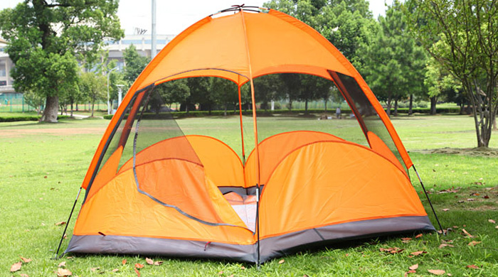 AOTU Five Person Double-layer Hexagon Tent Single Door Design