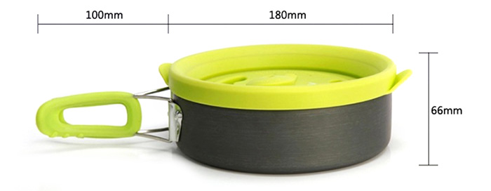 ALOCS CW-K05 1.6L Multi-function Camping Pot for Outdoor Picnic