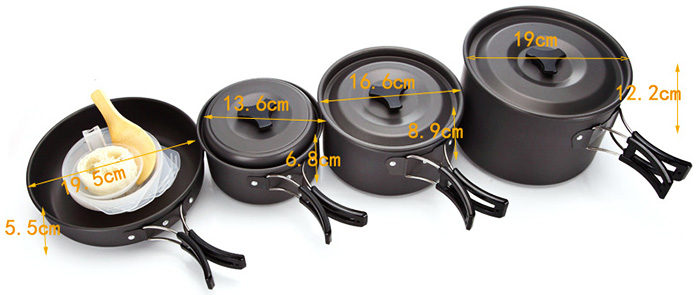 AOTU SY500 Seven-piece Cookware Set for Outdoor Camping