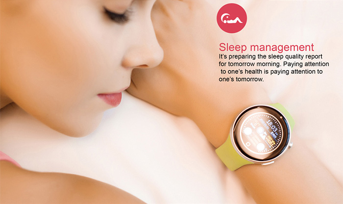Aiwatch C5 1.22 inch Round Screen Sports Smartwatch Phone MTK2502 Remote Camera Heart Rate / Sleep Monitor IP67 Water-resistant Bluetooth Sync