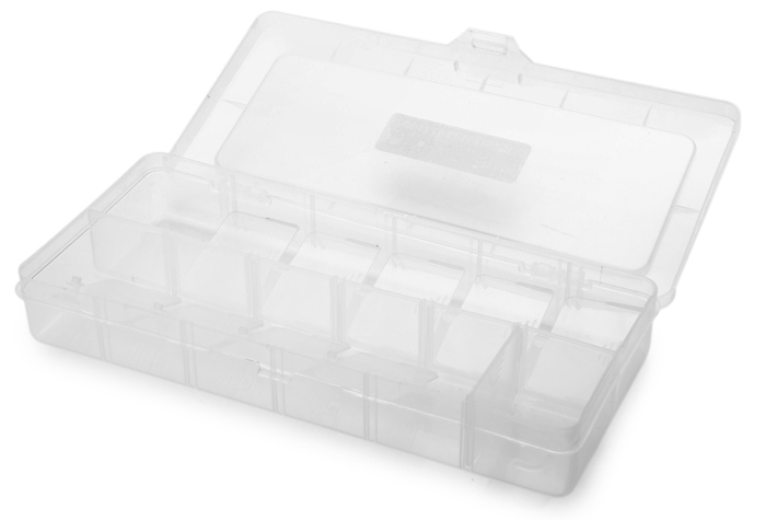 Weitus 12 Grid Components Storage Container Box