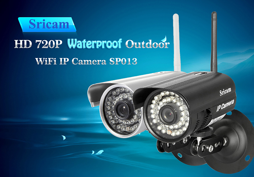 Sricam SP013 720P H.264 Wifi IP Videocamera Wireless ONVIF Sicurezza
