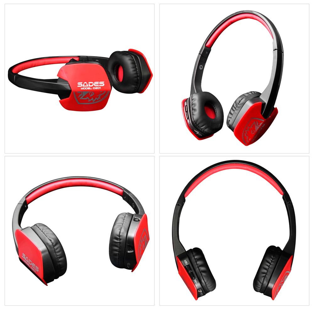 SADES D201 Wireless Bluetooth V4.1 Headphoens Gaming Headset with Microphone