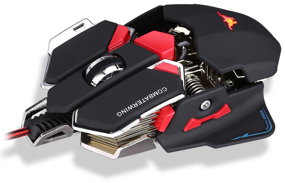 Combaterwing CW-80 USB Wired Optical Gaming Mouse Customized DPI Game Mice