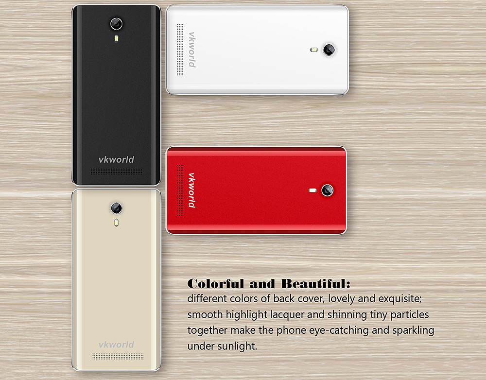 VKworld F1 4.5 inch 3G Smartphone Android 5.1 MTK6580 Quad Core 1.3GHz GPS 1GB RAM 8GB ROM Dual Cameras