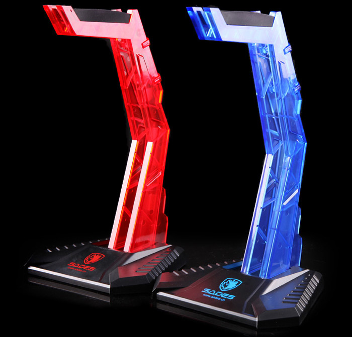 SADES Headphones Stand Transparent Acrylic Headset Holder