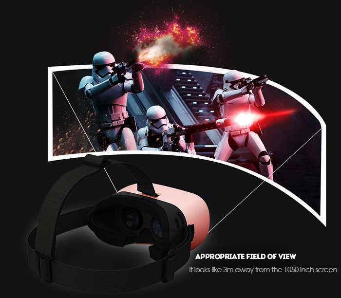 Baofeng Mojing D VR 3D Virtual Reality Glasses Video Game Headset Headband for iOS with Remote Controller