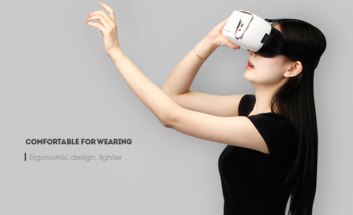 Baofeng Mojing D 3D VR Virtual Reality Glasses Video Game Headset Headband with Remote Controller for 5 - 6 inch Smartphones