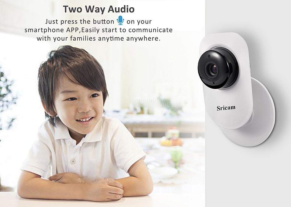 Sricam SP009B 720P H.264 Wifi 1.0 Megapixel Wireless ONVIF Security IP Camera TF Slot IR-cut Lens