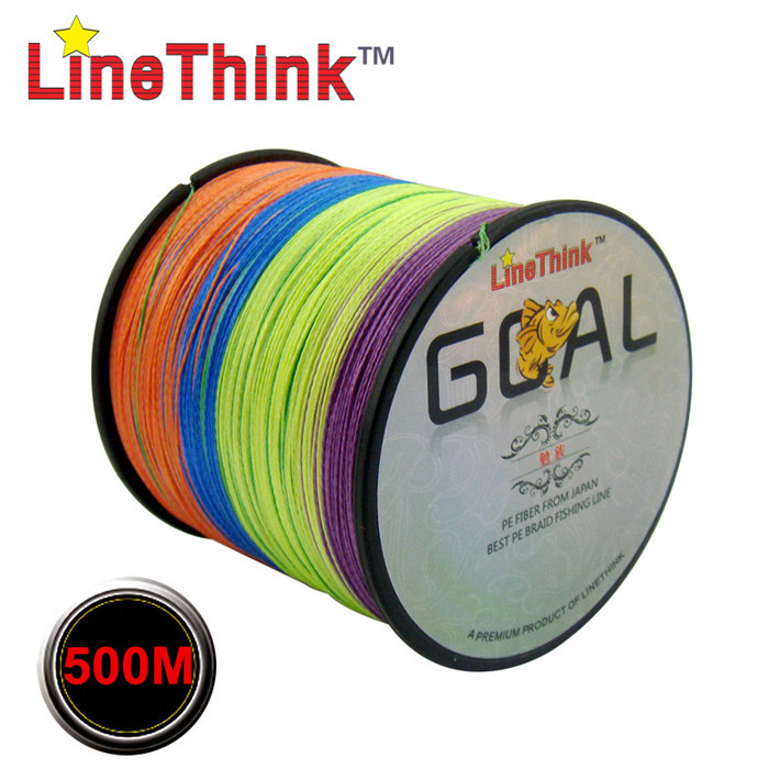 LineThink 500m Colorful Fishing Line PE Made