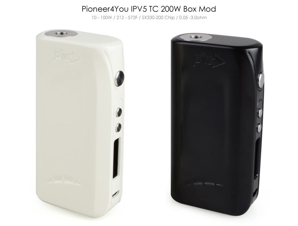 Original Pioneer4You IPV5 200W Temperature Control Box Mod with TC 212 - 572F / VW 10 - 200W / Supporting 0.05 - 3ohm Ecig Mod