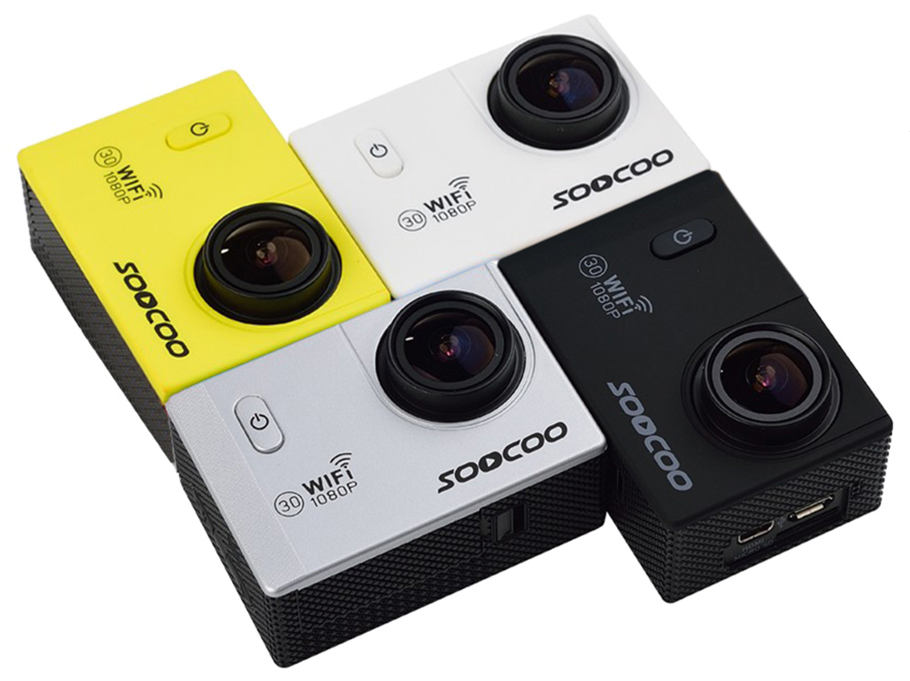 Original SOOCOO C10S 1080P Full HD 170 Degree Wide Angle WiFi Action Camera with 2.0 inch LCD Screen
