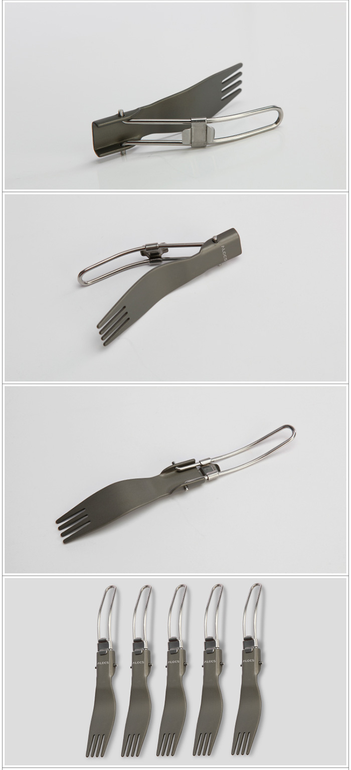 ALOCS TW-102 Stainless Steel Folding Fork Tableware for Camping
