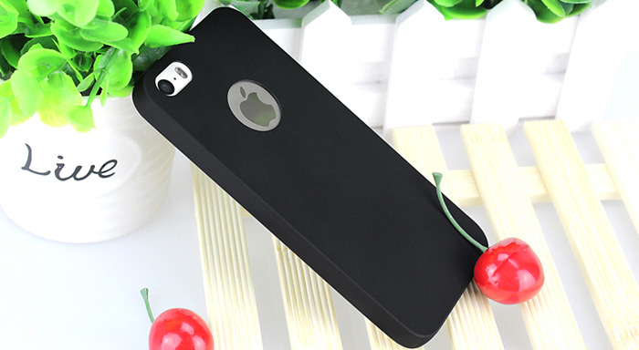 ASLING Ultra-thin Protective Back Cover Case for iPhone 5 / 5S / SE Soft Material Solid Color
