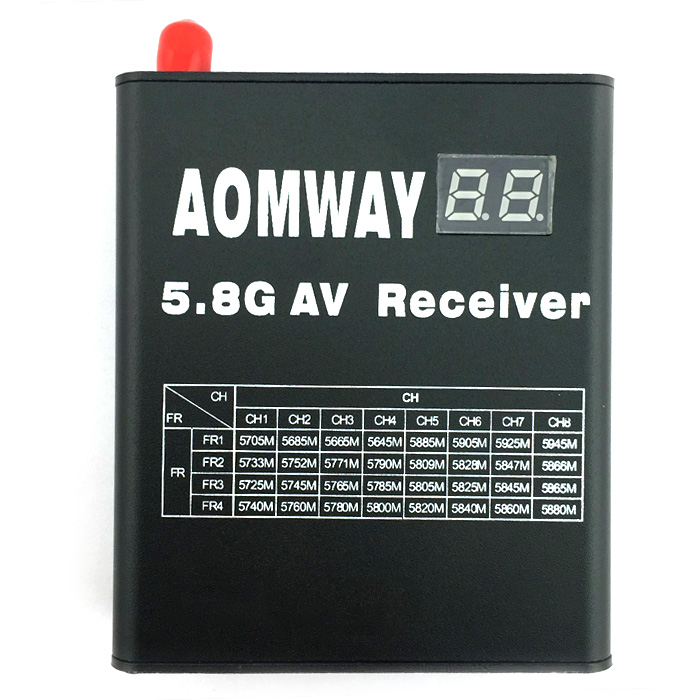 Aomway RX004 5.8G 32CH Video Receiver / Antenna Set Accessory for Multicopter DIY