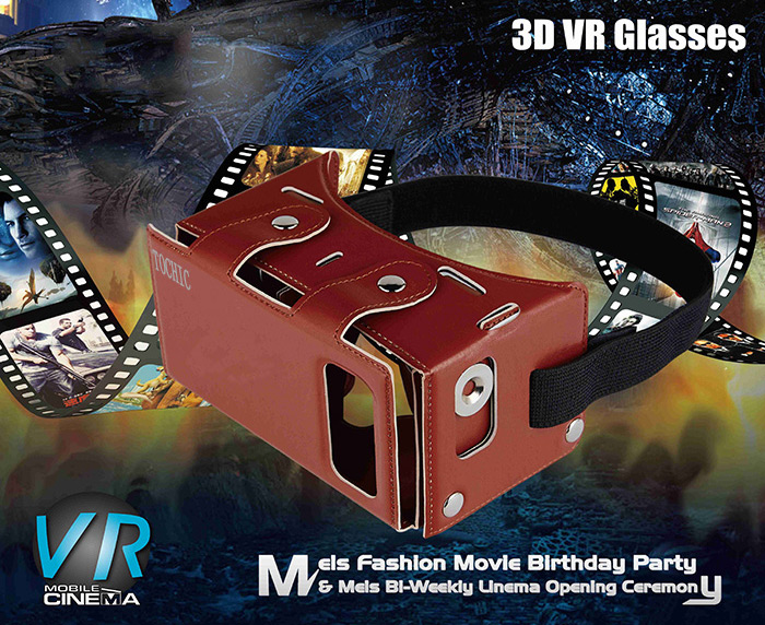 TOCHIC VR Glasses 3D Virtual Reality Private Theater for 4 - 5.5 inch Smartphones
