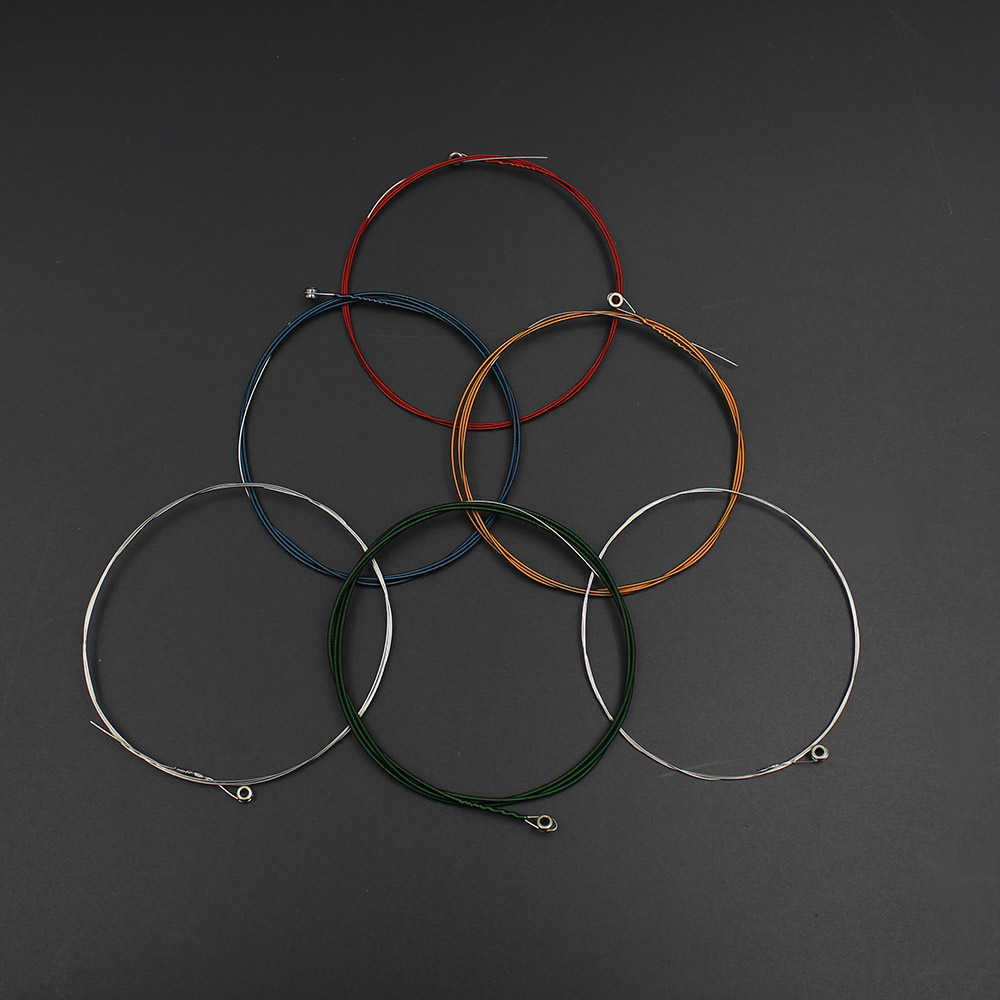 IRIN A105 6Pcs Acoustic Guitar Colorful String Musical Instrument Accessory