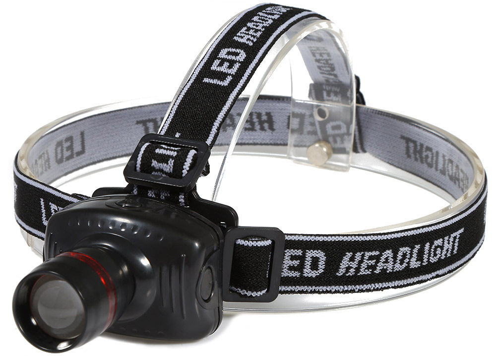 3W 200LM Super Bright LED Headlamp 3 Mode Zoomable Camping Fishing Headlight