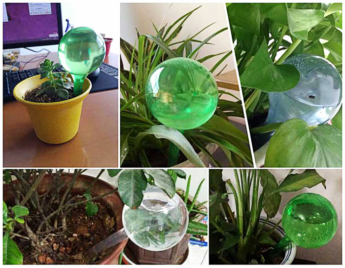 PVC Ball Shape Automatic Drip Watering System Potted Plants Irrigation Controller