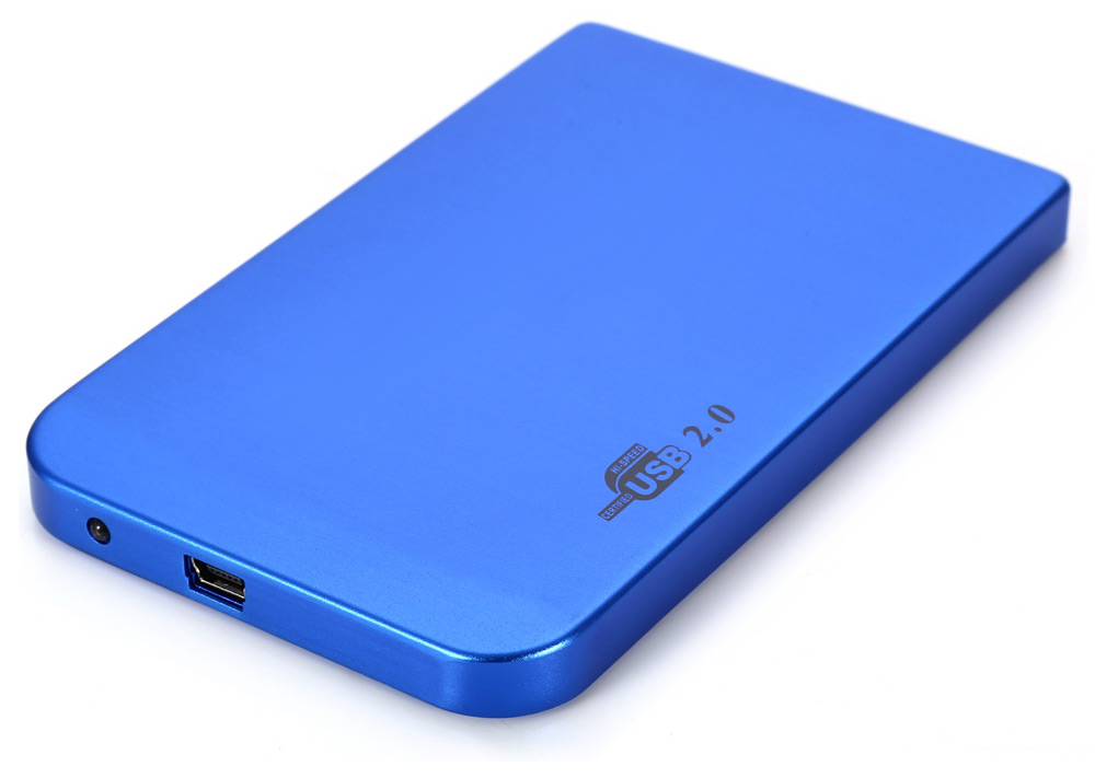 Aluminum USB 2.0 Hard Disk Drive Enclosure Case for 2.5 inch IDE HDD