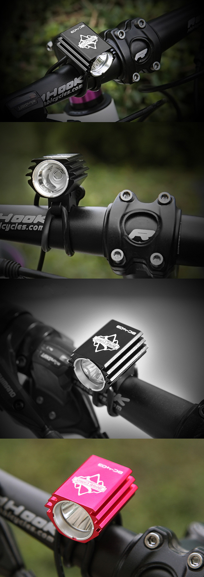BASECAMP BC-403 1800LM 4 Modes Bicycle Flashing Light with Constant Focal Length