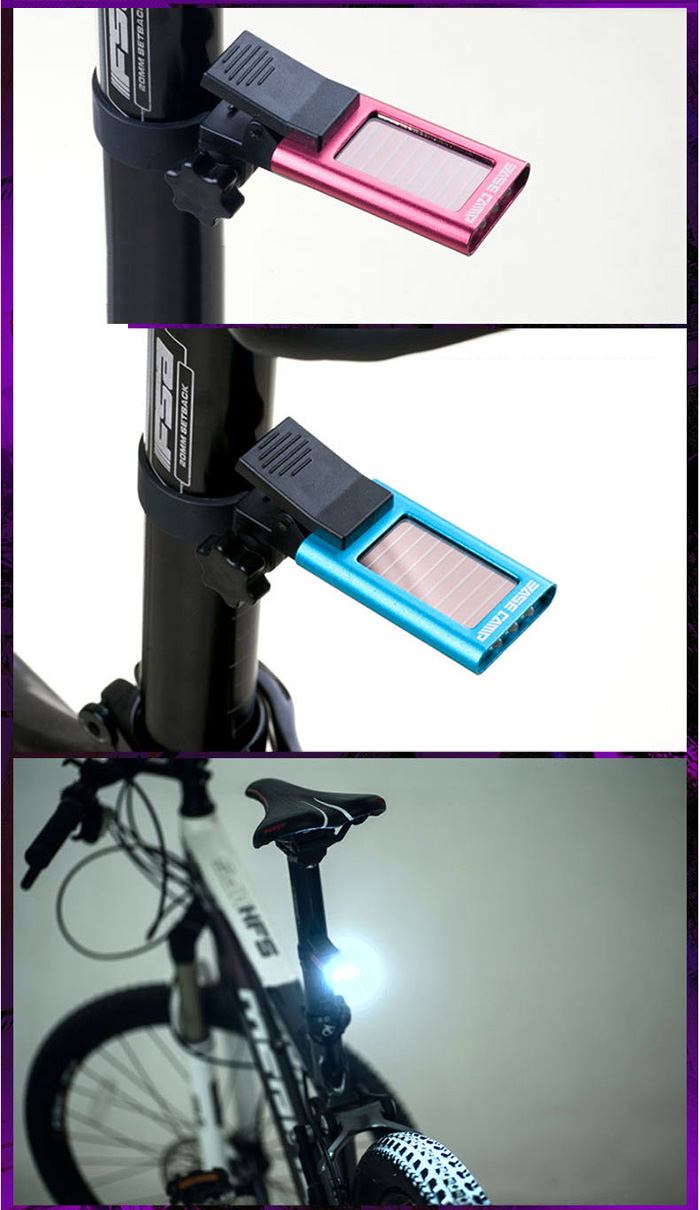 BASECAMP BC-422 3 Modes Solar Bicycle Tail Light with IPX3 Waterproof Grade