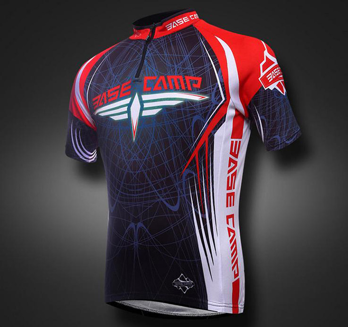 BASECAMP BC-522 Male Summer Cycling Short Sleeves Suits COOLMAX + Spandex Made