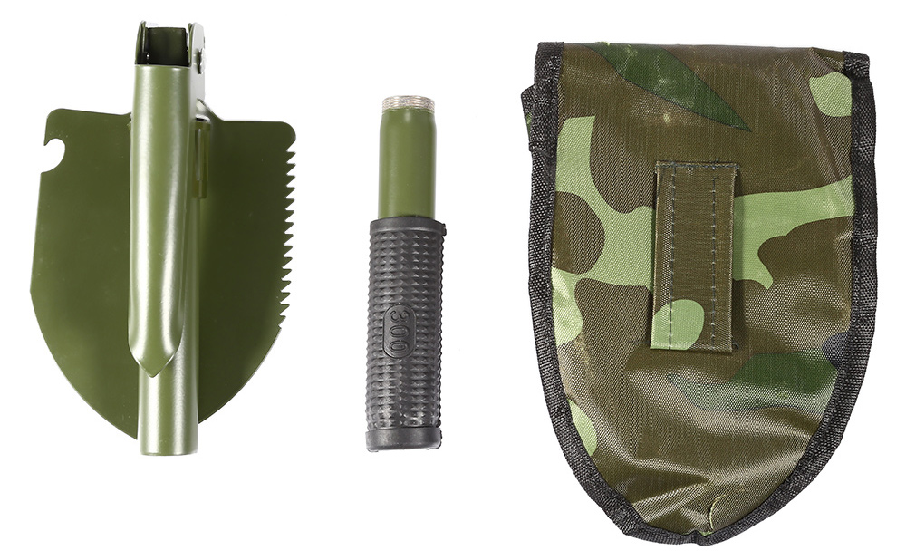 CLEYE Multifunctional Military Folding Sappers Shovel Survival Spade Emergency Garden Camping Outdoor Tool