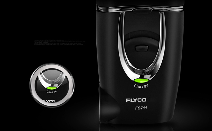 FLYCO FS711 Small Rotatable Double Head Electric Shaver Rechargeable Razor
