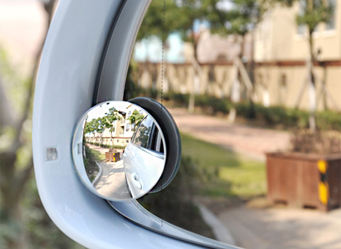 2pcs 360 Degree Rotatable Wide-Angle Blind Spot Car Rear View Mirror Auto Necessary