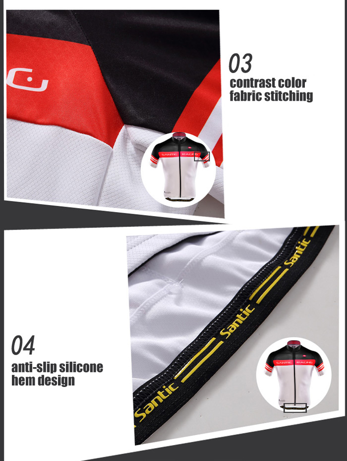 Santic Male Summer Cycling Short Sleeves N-FEEL Superfine Fiber Technology Made