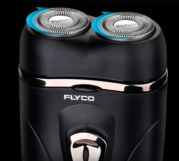 FLYCO FS812 Rotatable Double Head Small Electric Shaver Rechargeable Razor