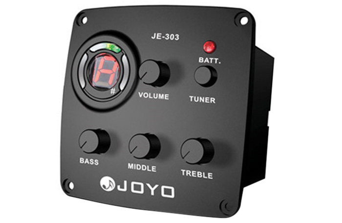 JOYO JE - 303 LCD Digital 3 Band EQ Pickup Preamp with Tuning Function
