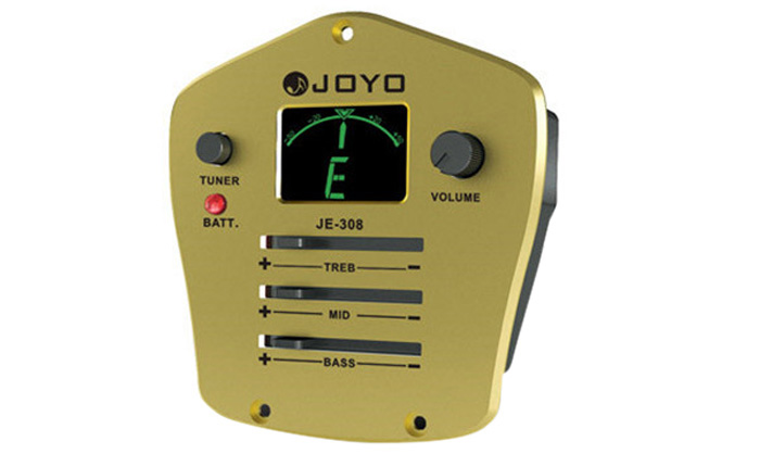 JOYO JE - 308 LCD Digital 3 Band EQ Pickup Preamp with Tuning Function