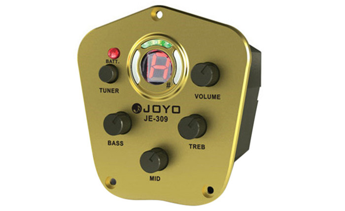 JOYO JE - 309 LCD Digital 3 Band EQ Pickup Preamp with Tuning Function