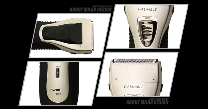FLYCO FS621 Rechargeable Electric Shaver Whole Body Washable Cordless Reciprocating Razor