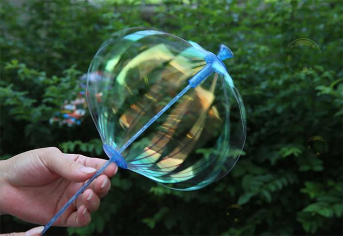 Colorful Shaking Stick PVC Toy Amazing Bubble Maker