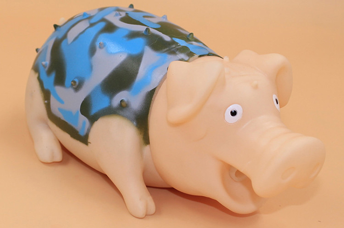 G731 Camouflage Screech Pig Cute Vent Toy for Office Worker