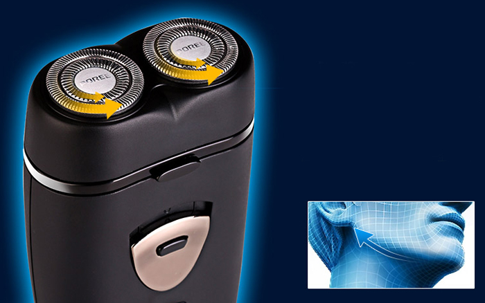 POREE PS185 Small Rotatable Dual Head Electric Shaver Rechargeable Razor