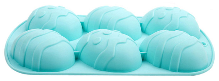 Silicone Easter Eggs Pattern DIY Baking Mold Cake Candy Biscuit Maker Mould