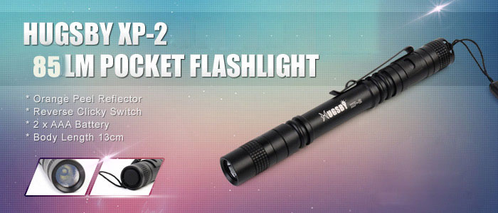 Hugsby XP - 2 XPE - R3 85LM Water-resistant Pocket AAA LED Flashlight